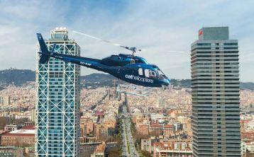 Vuelo en helicóptero por la ciudad y costa de Barcelona